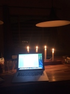 Working with candle light, for as long as the battery lasts
