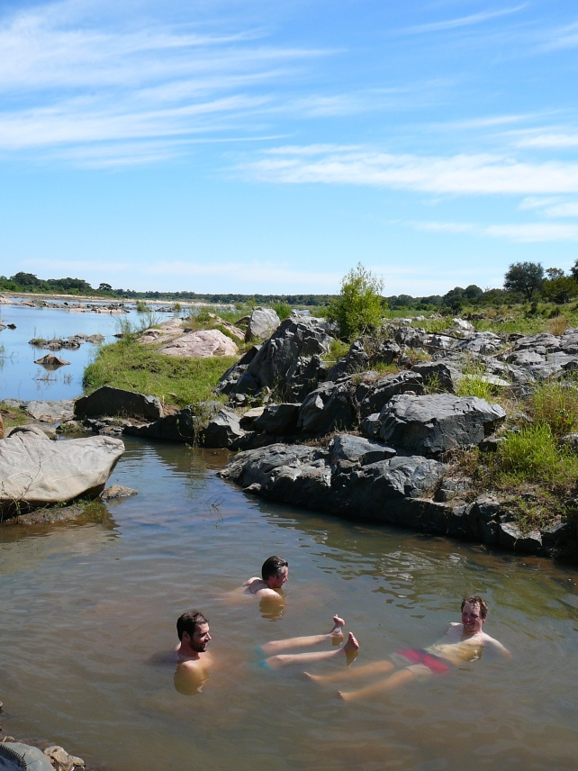 Swimming in the Letaba river